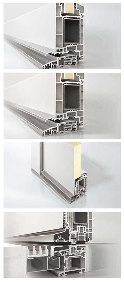 Perfiles de aluminio y PVC
